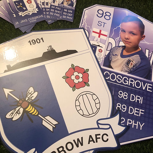 Personalised Player, Club Badge & Classic Trade Cards