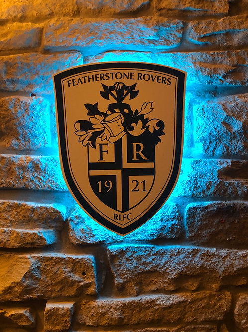 imake wooden Featherstone Rovers RL Wall Light