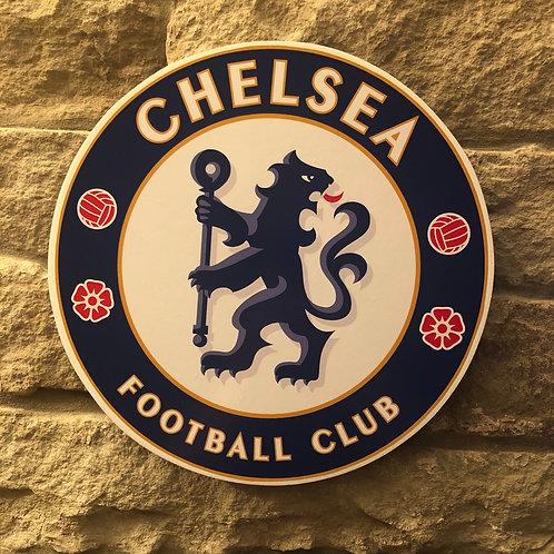 imake Chelsea FC Wooden Wall Badge