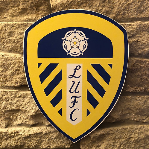 imake Leeds United MDF Wall Badge