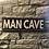 Thumbnail: MAN CAVE Wooden Wall Badge!