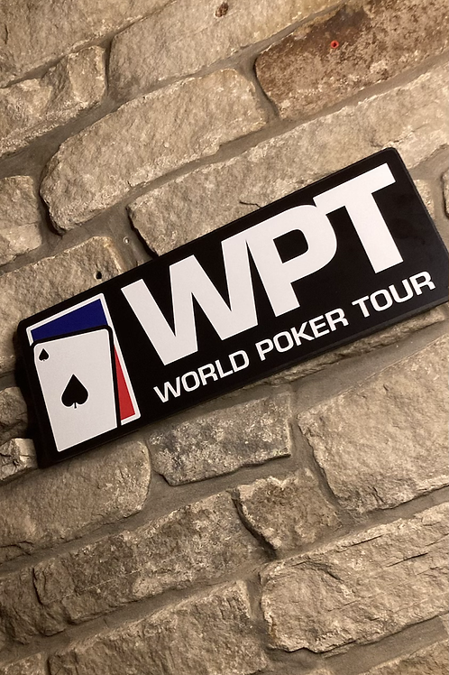 World Poker Tour Wooden Wall Sign