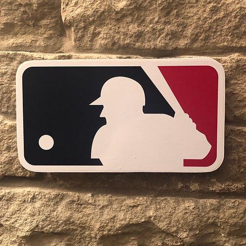 imake MLB League Wooden Wall Badge