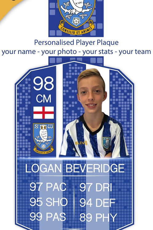 idesign Personalised Sheffield Wednesday Players Plaque