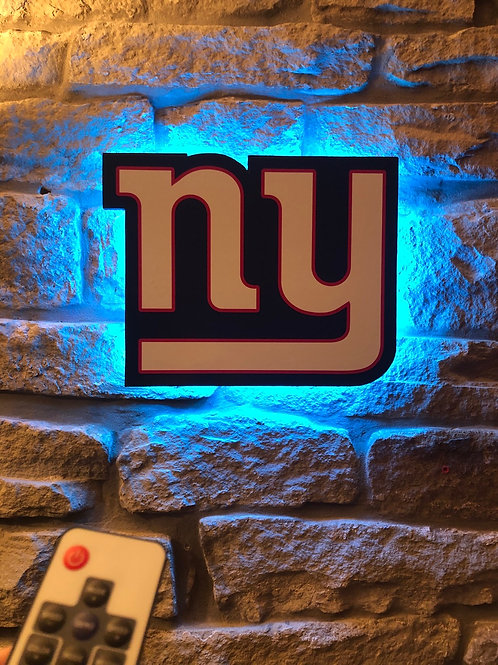 imake NFL New York Giants Wall Light with remote control