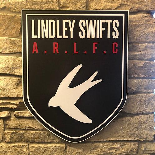 imake Lindley Swifts ARLFC Wooden Wall badge