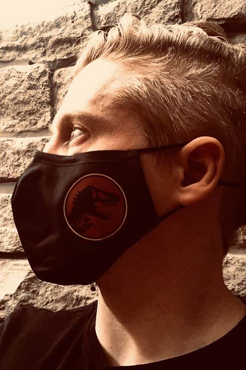 Jurassic Protective 3 layer fabric Facemask