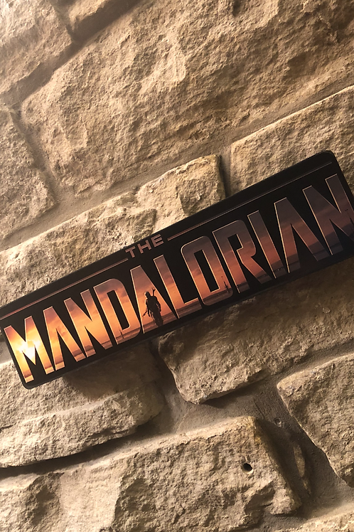 Mandalorian Wooden Wall Sign
