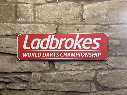 Ladbrokes World Darts Championship Wooden Wall Sign