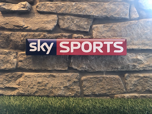 Sky Sports Network Signage Wooden Wall Plaque