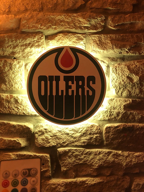 imake NHL Edmonton Oiler's Wall Light with remote control