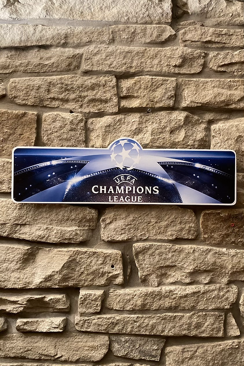 UEFA Champions League Wooden Wall Sign