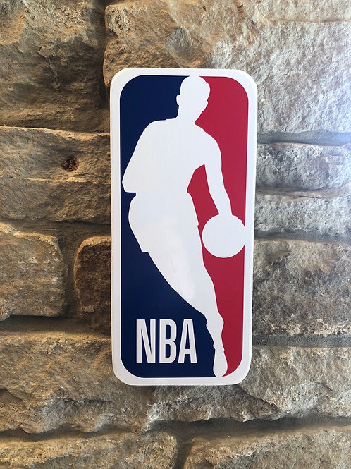 imake NBA League Small Wooden Wall Badge