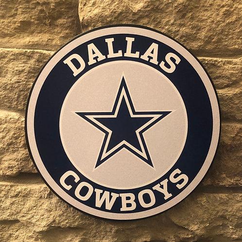 imake NFL Dallas Cowboys Wooden Wall Badge