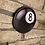 "Thumbnail: Wooden Wall ""8 Ball"" Pool room accessory"