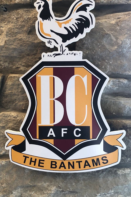 imake Bradford City FC Wall Badge