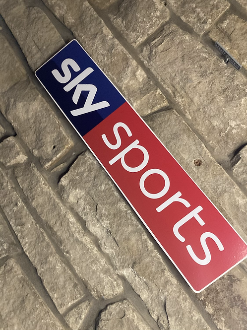 Modern New Style Sky Sports Network Wall Sign