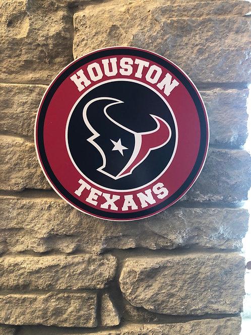 imake NFL Houston Texans Wall Badge Circle