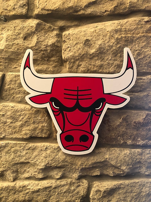 imake NBA Chicago Bulls (Bullhead) wooden wall badge