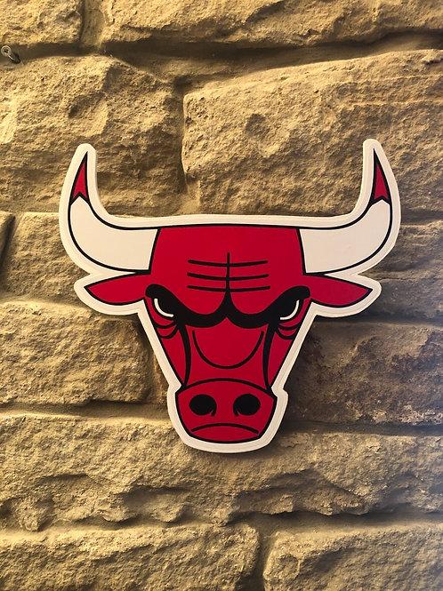 imake NBA Chicago Bulls (Bullhead) wooden wall badge