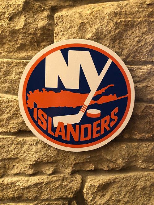 imake NHL New York Islanders Wooden Wall Badge