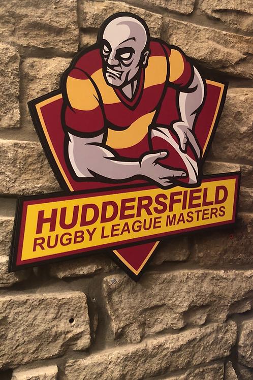 Large Huddersfield Masters RL Wooden Wall badg
