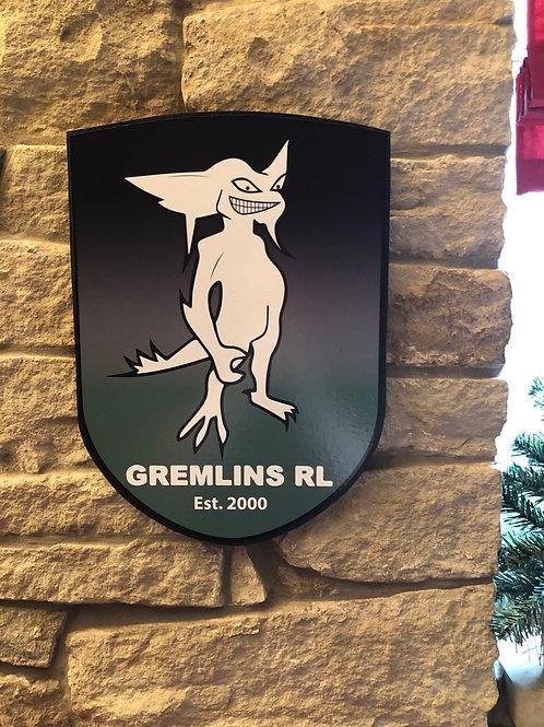 imake Gremlins RL MDF wall badge