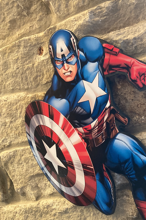 Captain America Wooden Action Character Cut out..