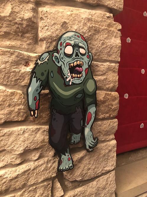 Zombie Patrick Wooden Figure