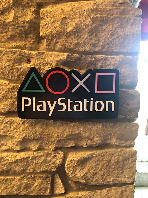 imake PlayStation BUTTON Retro Wooden Badge