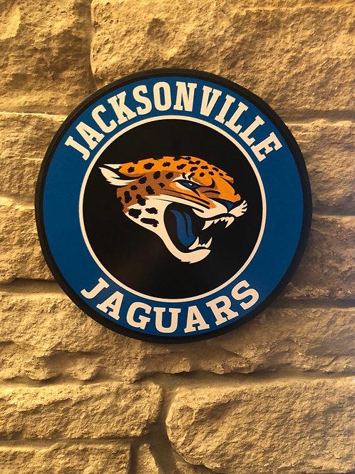 imake NFL Jacksonville Jaguars Wooden Wall Badge
