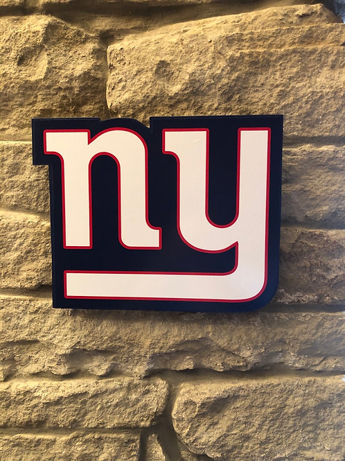 imake wooden NFL 2020 NY Giants Wall Logo