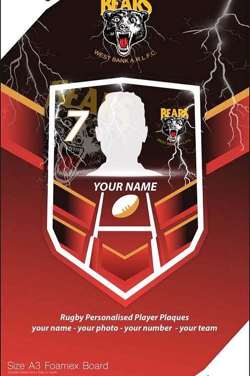 idesign amateur club rugby player plaques