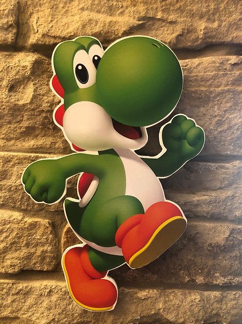 Handmade Wooden Yoshi & Nintendo Logo Wall Set!