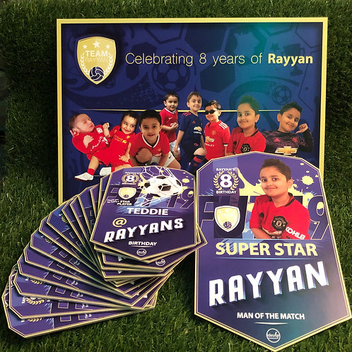 idesign football party goer player plaques