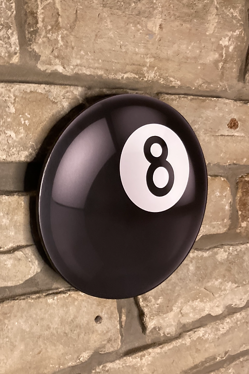 """Wooden Wall """"8 Ball"""" Pool room accessory"""