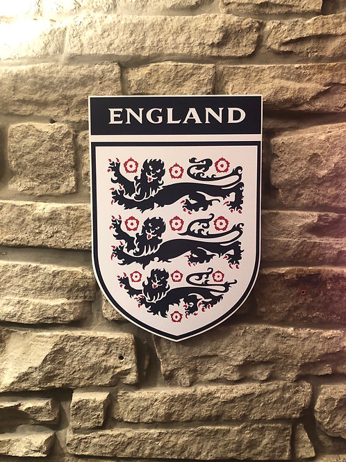 England National Football Team Wooden Wall badge