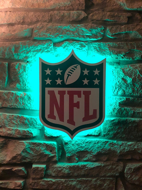 Handmade Wooden NFL League Wall Light
