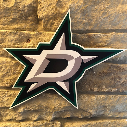 imake NHL Dallas Stars Wooden Wall Badge