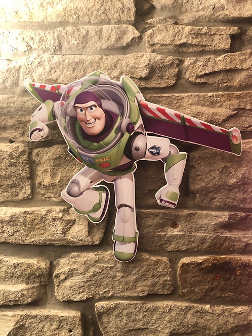 "Handmade Wooden Buzz Lightyear ""To Infinity & Beyond!"""