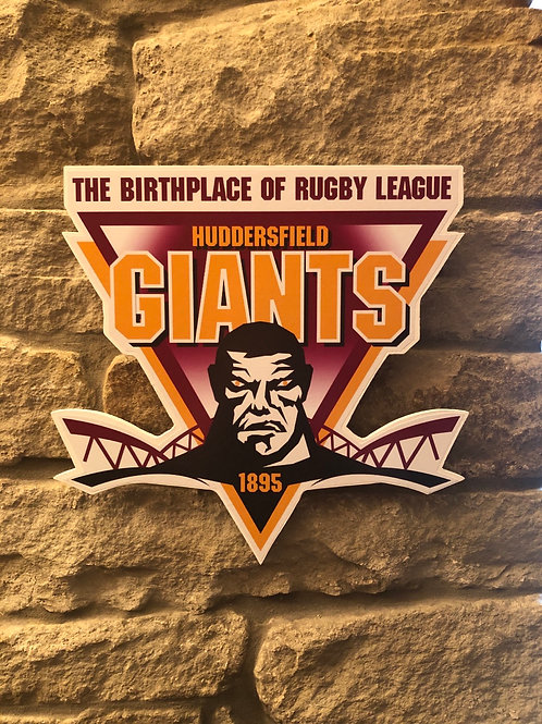 imake Huddersfield Giants RL wooden wall badge