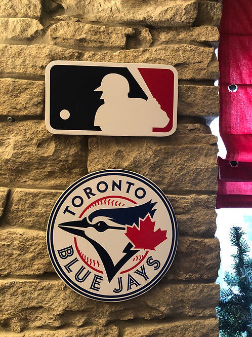 imake MLB & Toronto Blue Jays Wooden Wall Badge