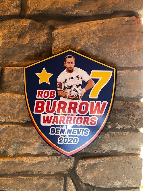 imake ROB BURROWS 7 Wooden Wall Shield!