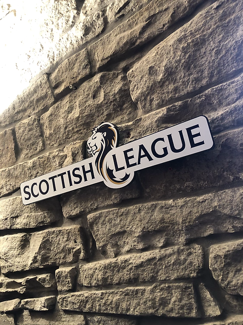 Scottish league Premier Football Wooden Wall Sign