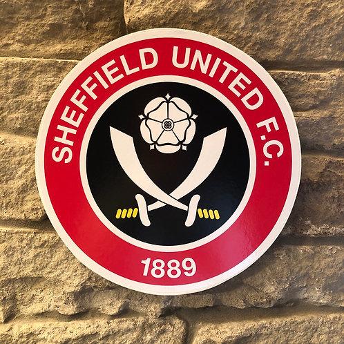 imake Sheffield United Wood Wall Badge