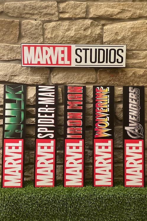 Marvel Studio Hero Wooden Wall Signs