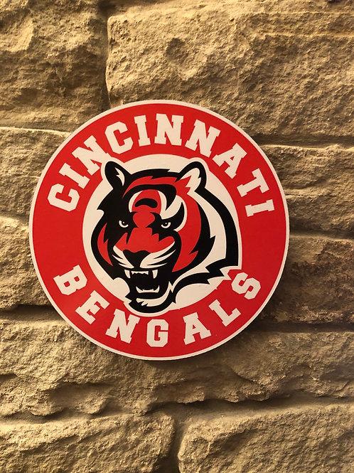 imake NFL Cincinnati Bengals Wooden Wall Badge