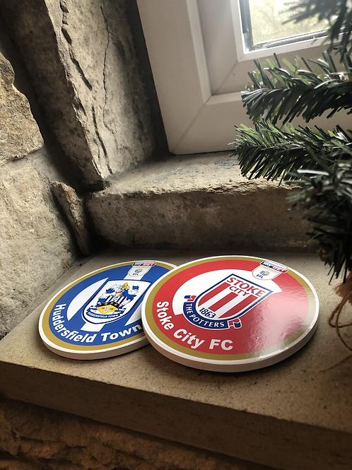 Exclusive Design Wooden Football Club Coaster Range