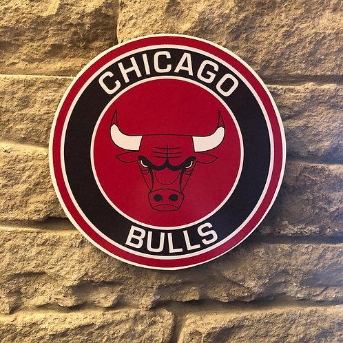 imake NBA Chicago Bulls Wooden Wall Badge