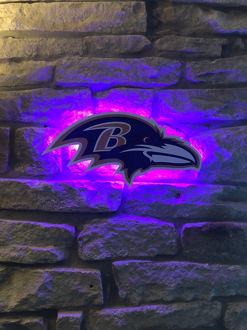 imake NFL Baltimore Ravens 2020 Ravens Head Wall Light
